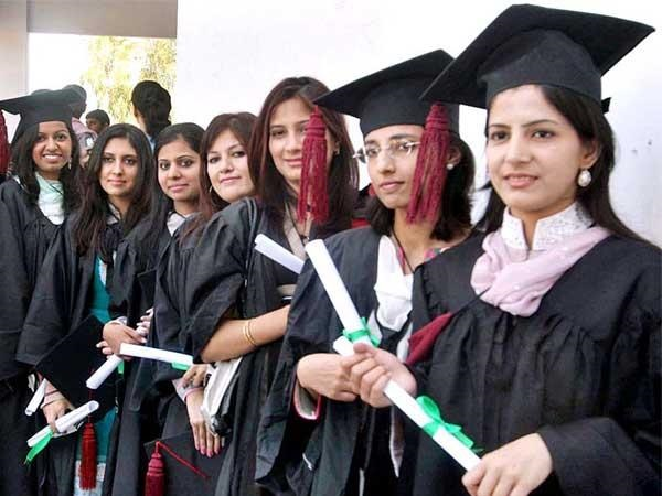 Students standing in a group photograph after 8th Convocation of